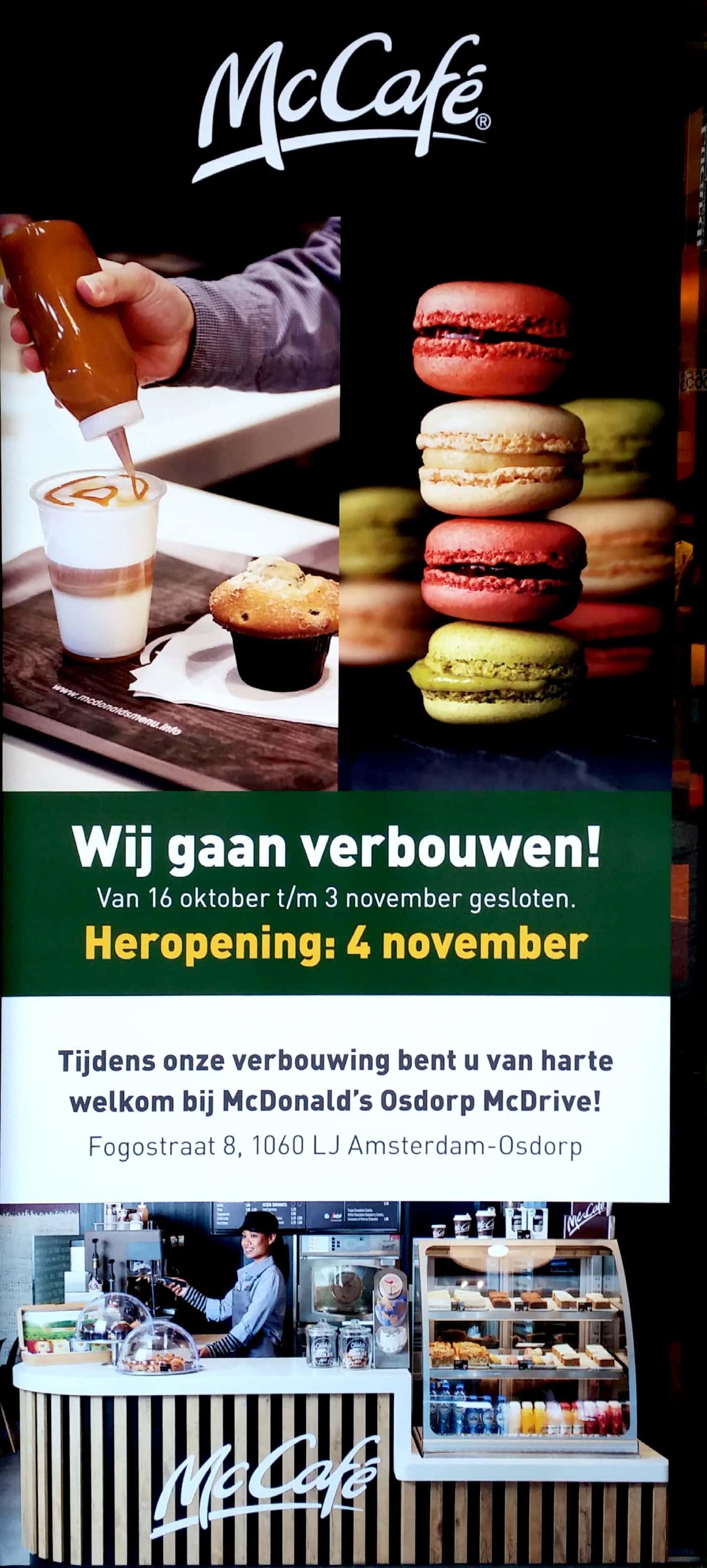 McDonalds in Osdorp gaat verbouwen